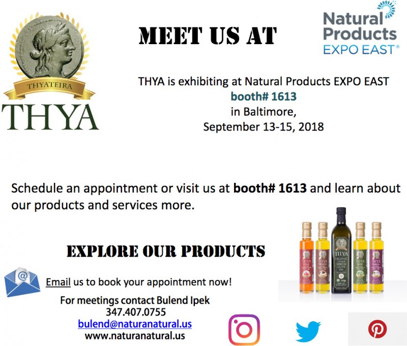 THYA is exhibiting at Natural Products EXPO EAST
